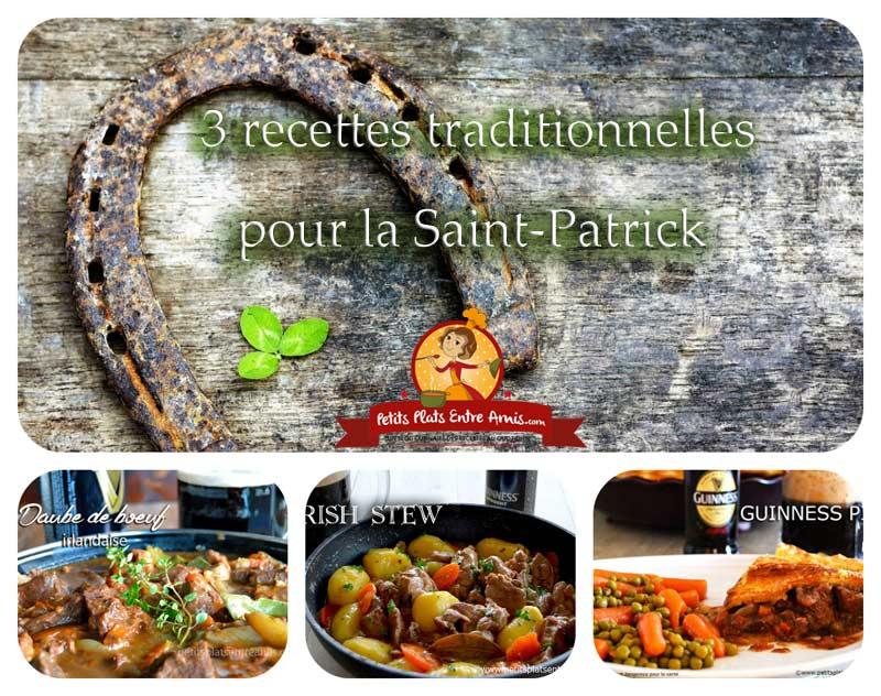 recettes traditionnelles pour la Saint Patrick