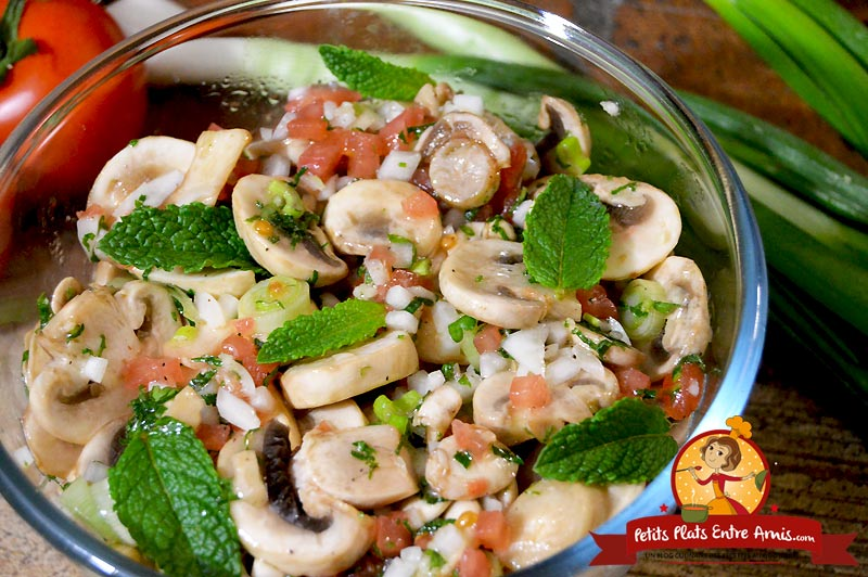 Recette de salade de champignons