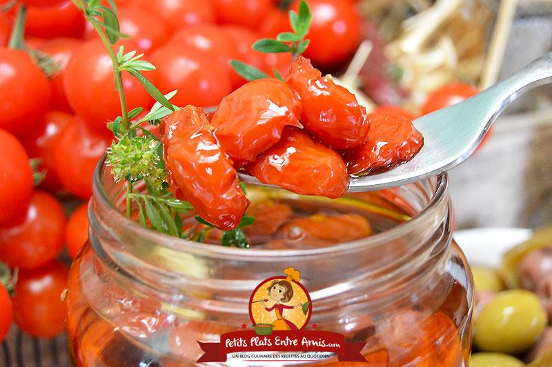 Comment faire des tomates cerises confites