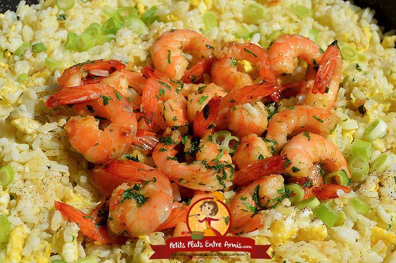 Recette de riz sauté aux crevettes