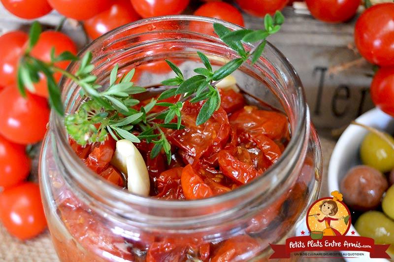 Recette des tomates cerises confites