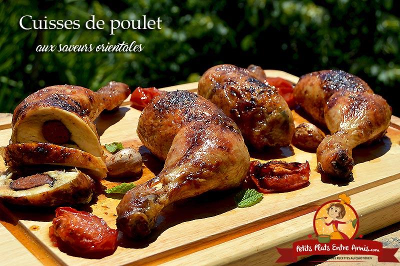 Cuisse de poulet aux saveurs orientales