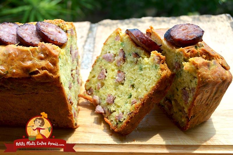 Recette de cake aux saucisses de Toulouse