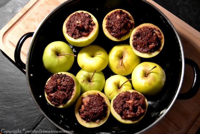Pommes farcies au boudin