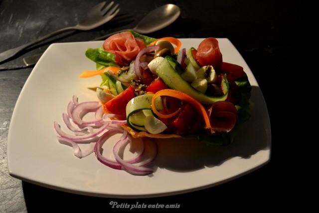 Salade vénitienne sur assiette