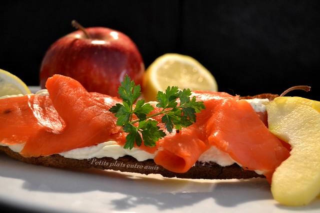 Tartine de saumon fumé