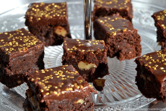 assiette de brownies