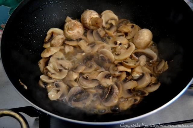 champignons dégorgés