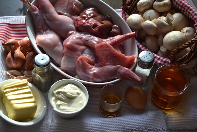 ingrédients lapin au cidre