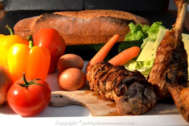 ingrédients pour turkey sandwich