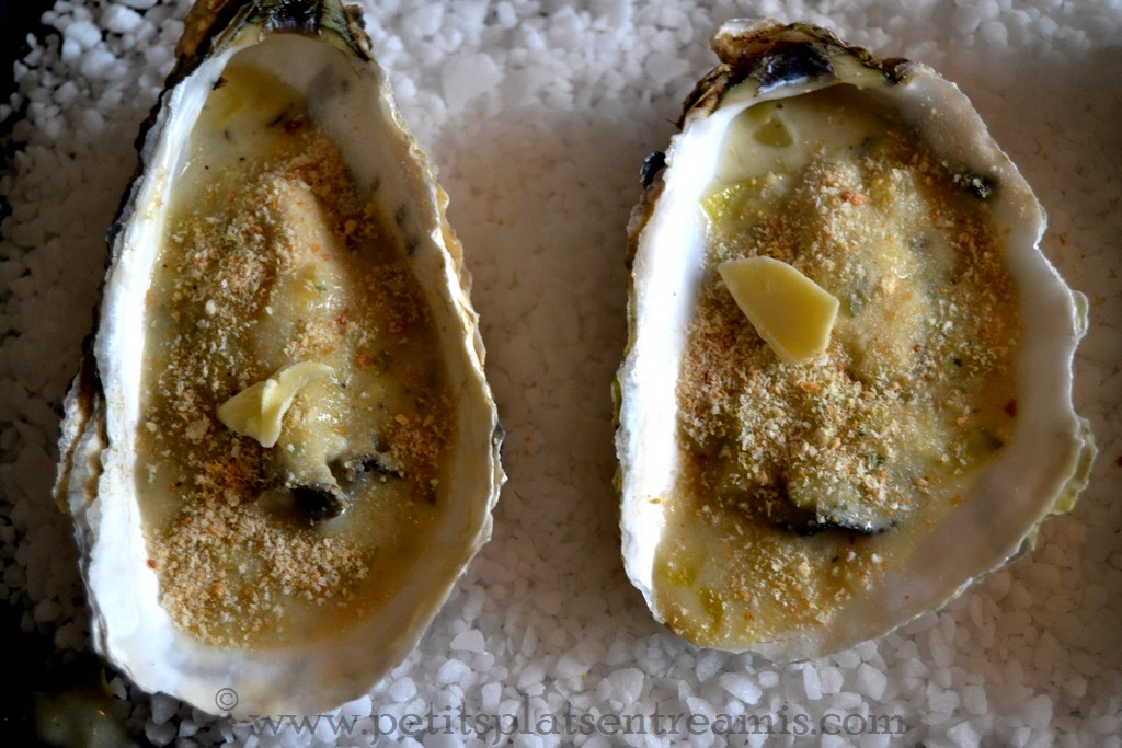 huîtres à gratiner