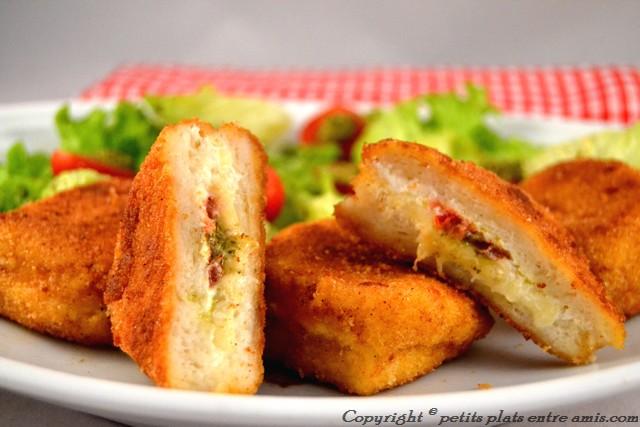 pain perdu au 3 fromages coupé