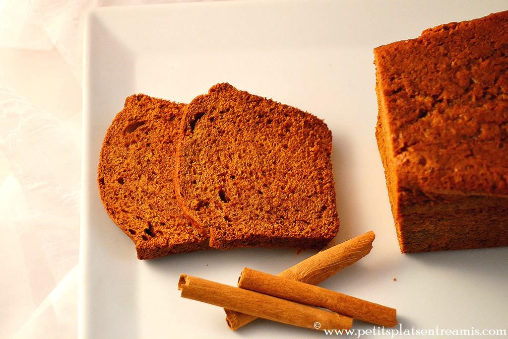 pains d'épices tranché