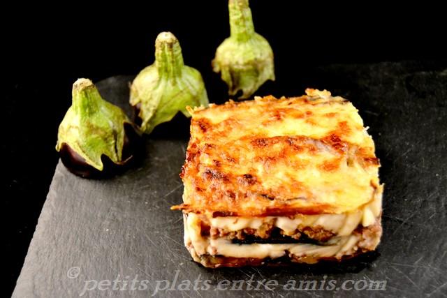 part de lasagnes d'aubergines
