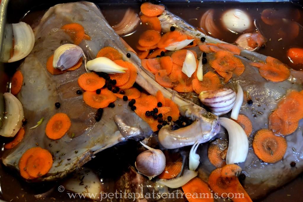 préparation cuissot de chevreuil