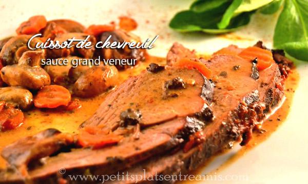 Cuissot de chevreuil sauce grand veneur