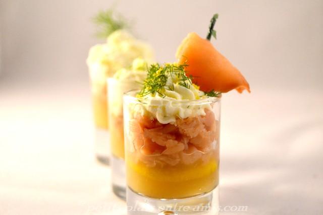 Verrine saumon et pommes