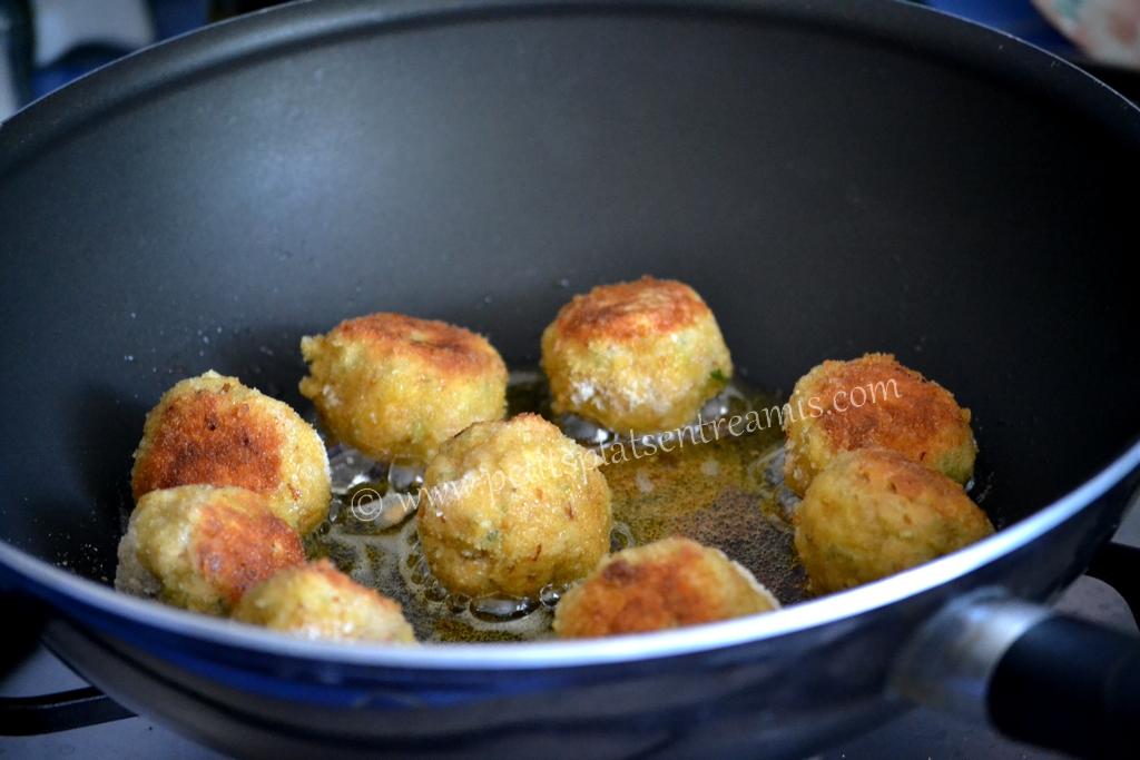 cuisson croquettes de thon