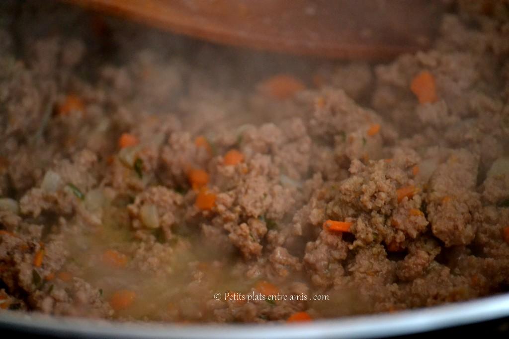cuisson de la viande pour hachis