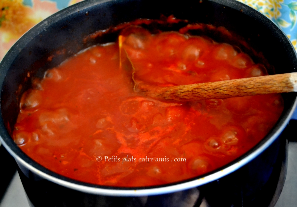 cuisson sauce tomate
