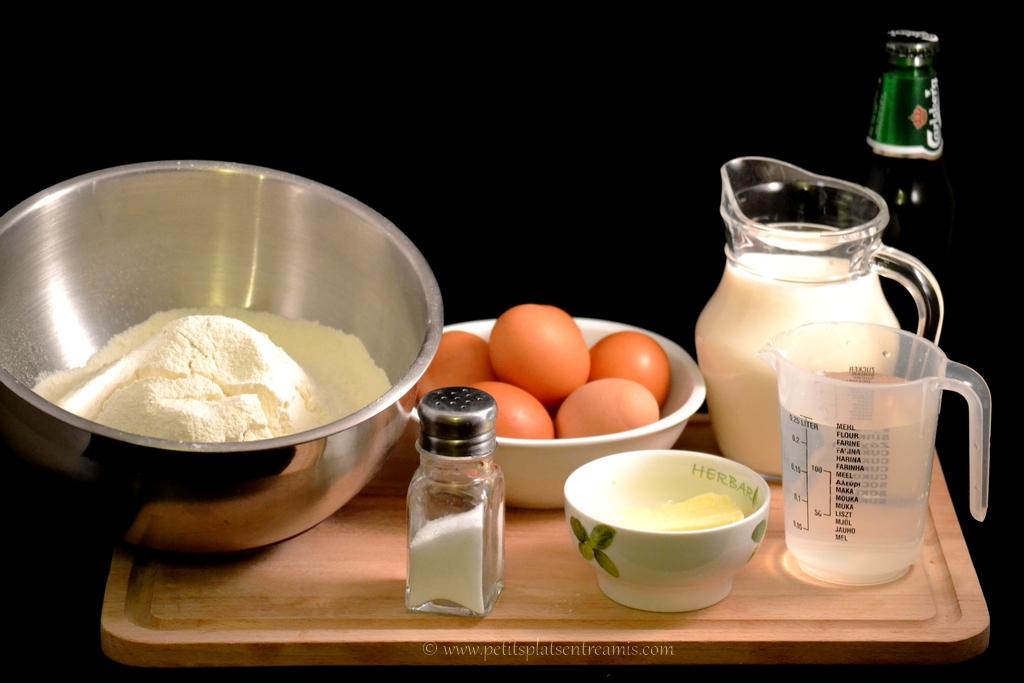 ingrédient pour pâte à crèpes