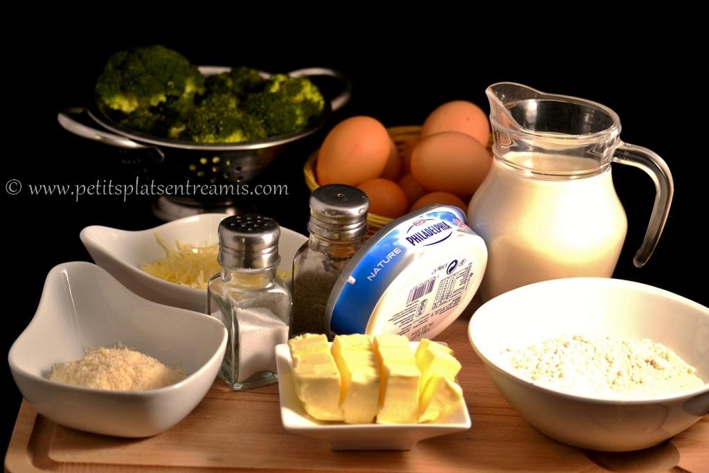 ingrédients pour soufflé aux brocolis
