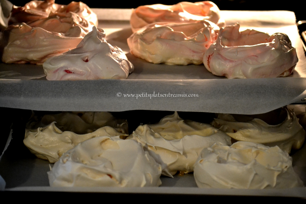 meringues sorties du four