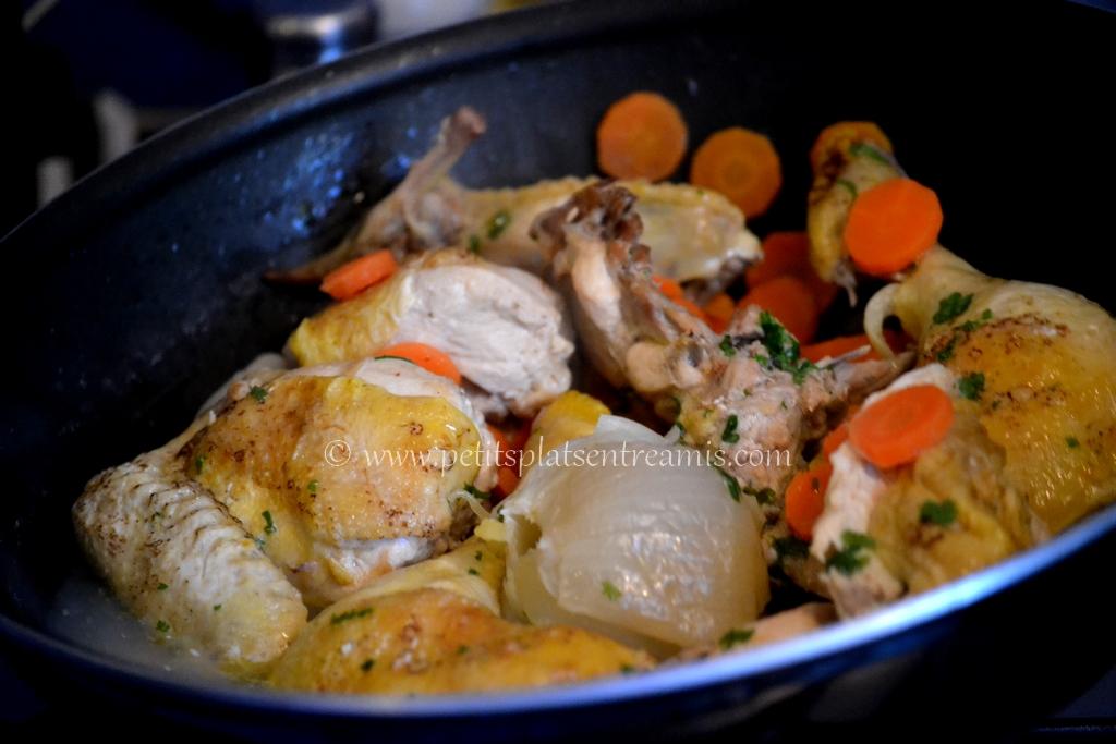 poulet et court bouillon
