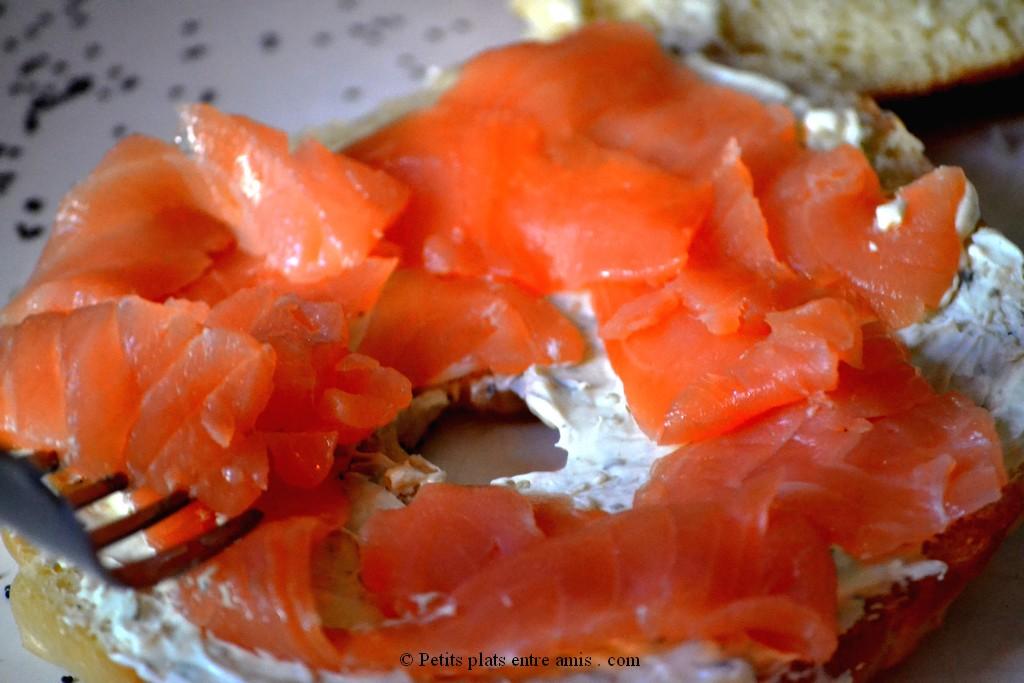 saumon sur bagels