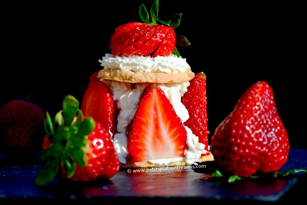 fraises chantilly et fraises