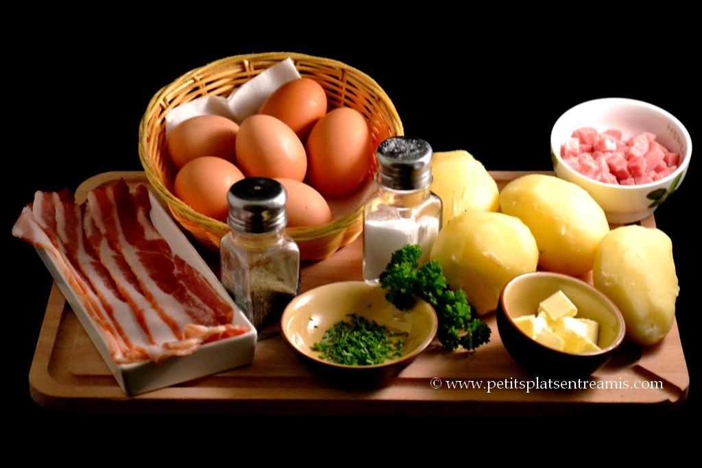 ingrédients pour omelette campagnarde