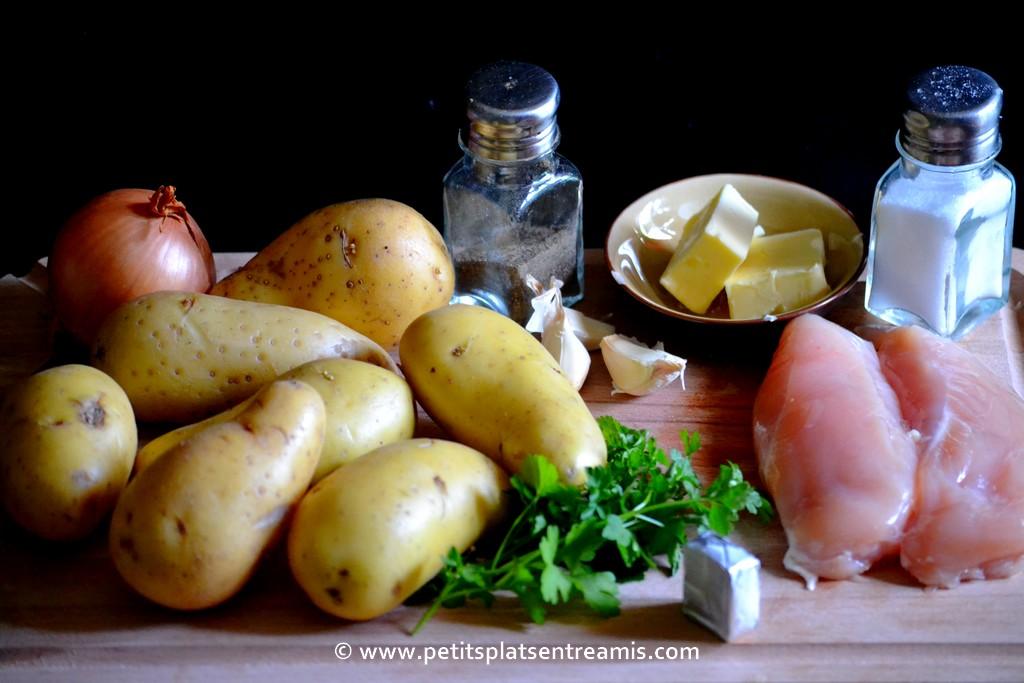 ingrédients pour parmentier de poulet