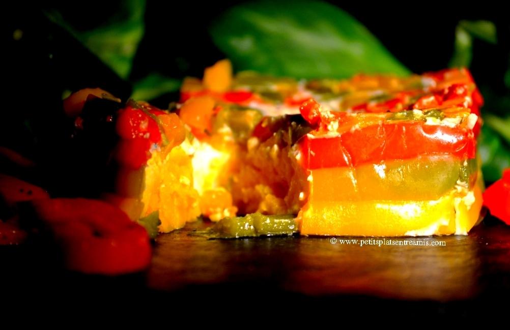 oeufs en poivronnade ouverts