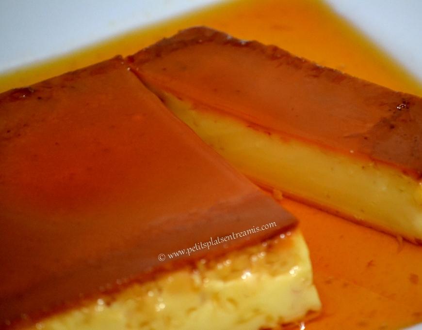 part de crème renversée au caramel