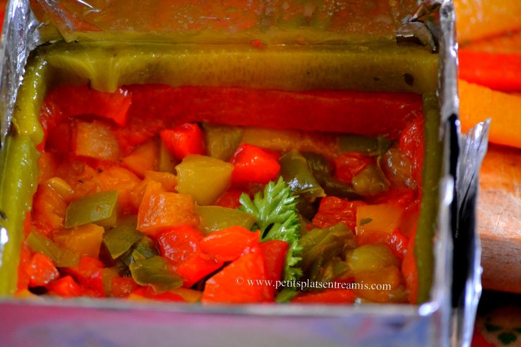préparation oeufs en poivronnade