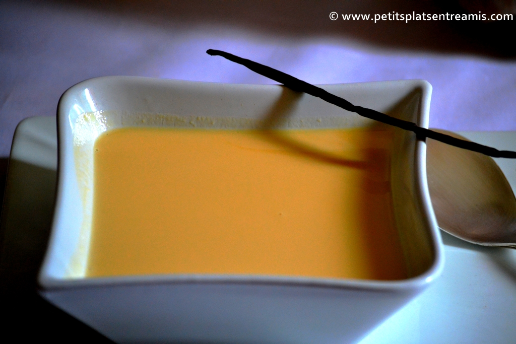 présentation crème anglaise