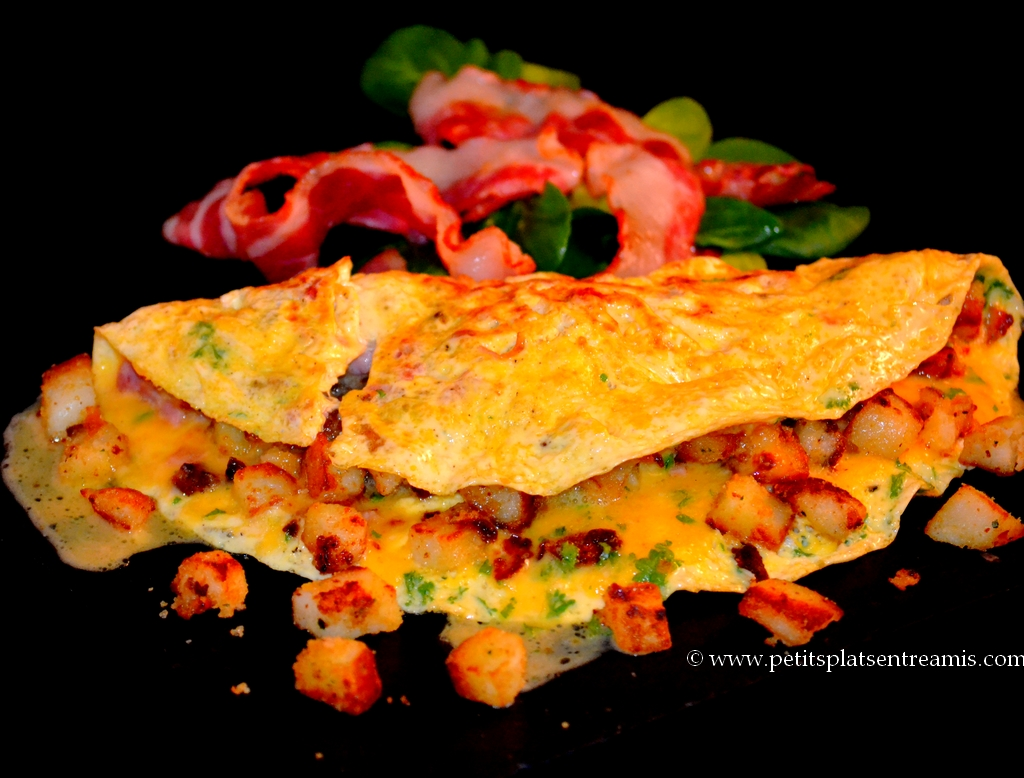 présentation omelette campagnarde