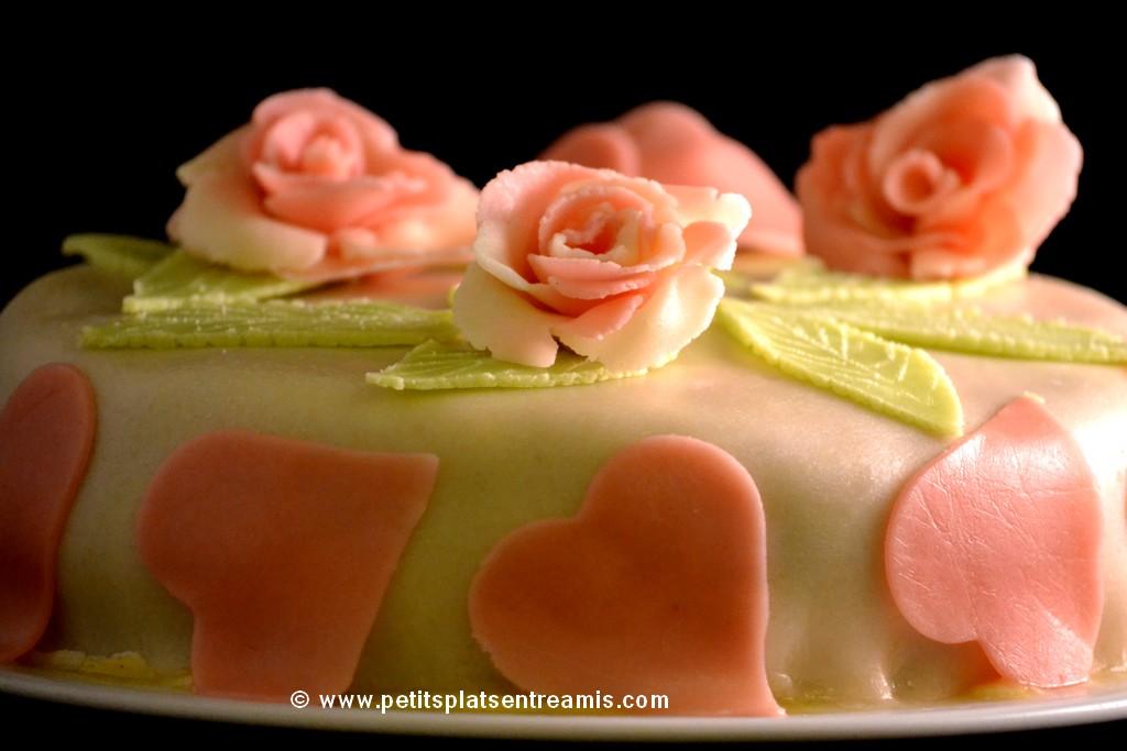 saint-Valentin et gâteau