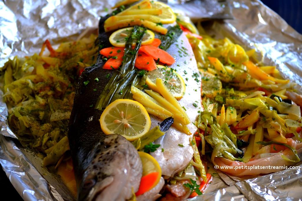saumon farci prêt à cuire