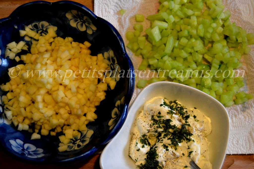Ingrédients pour concombres à la crème