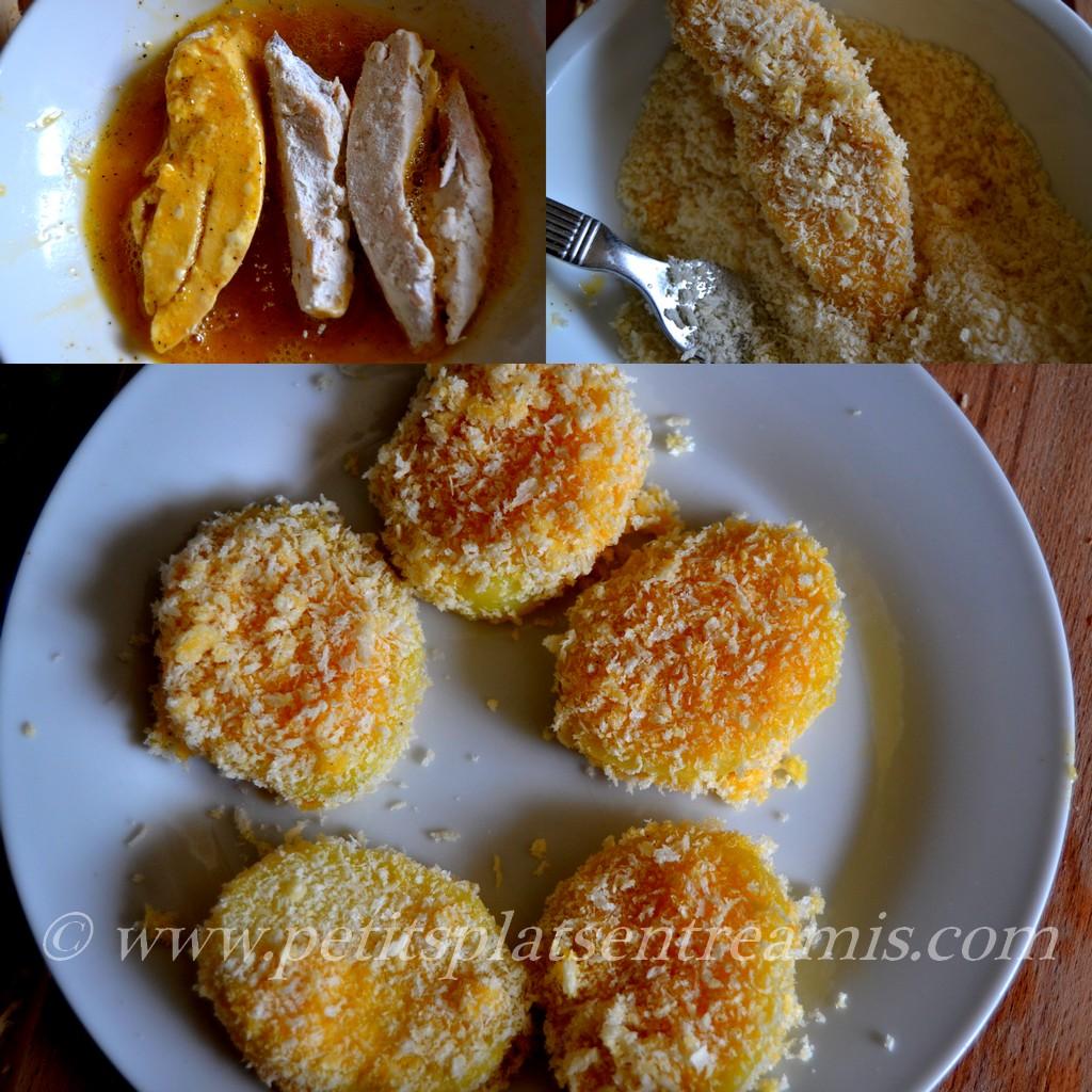 Poulet et pommes de terre panées pour Melrose