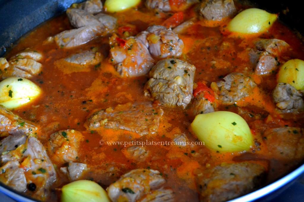 cuisson curry d'agneau