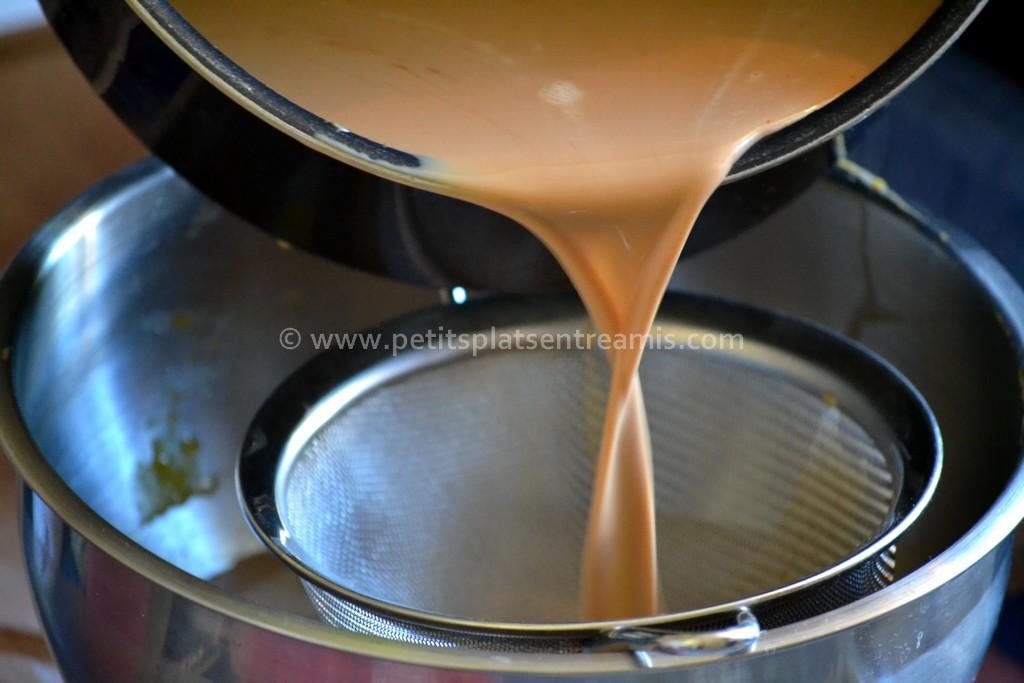 filtrage crème brûlée au carambar