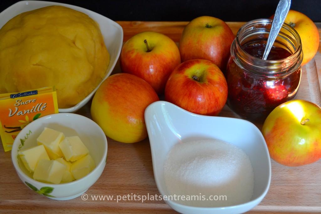 ingrédients pour tarte aux pommes