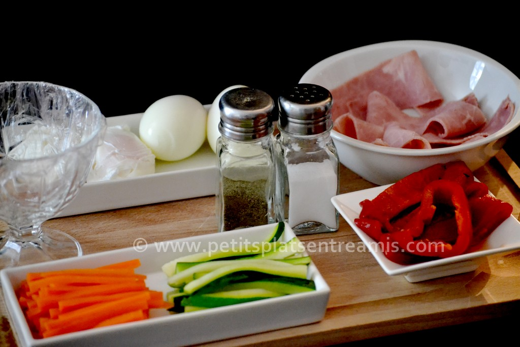 légumes pour oeufs en gelée