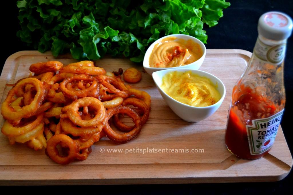 onion rings et sauces