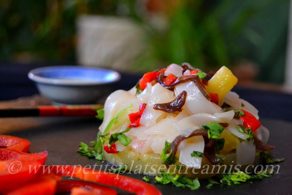 portion de salade de nouilles chinoises