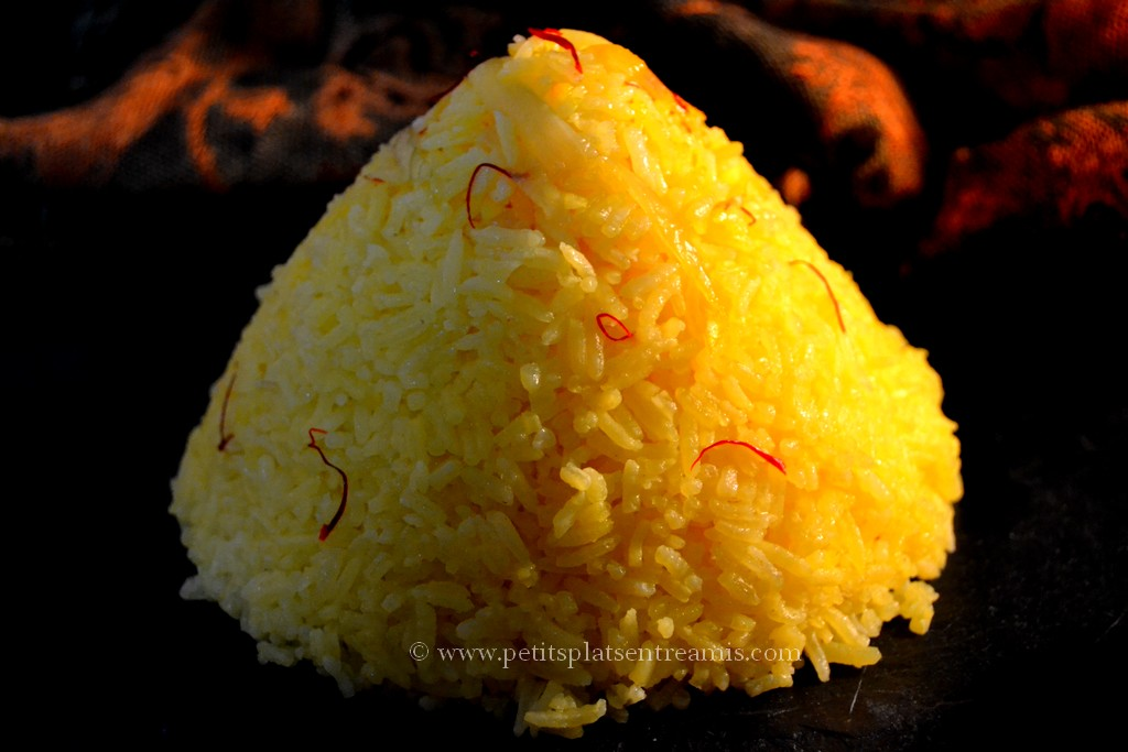 présentation riz pilaf au safran