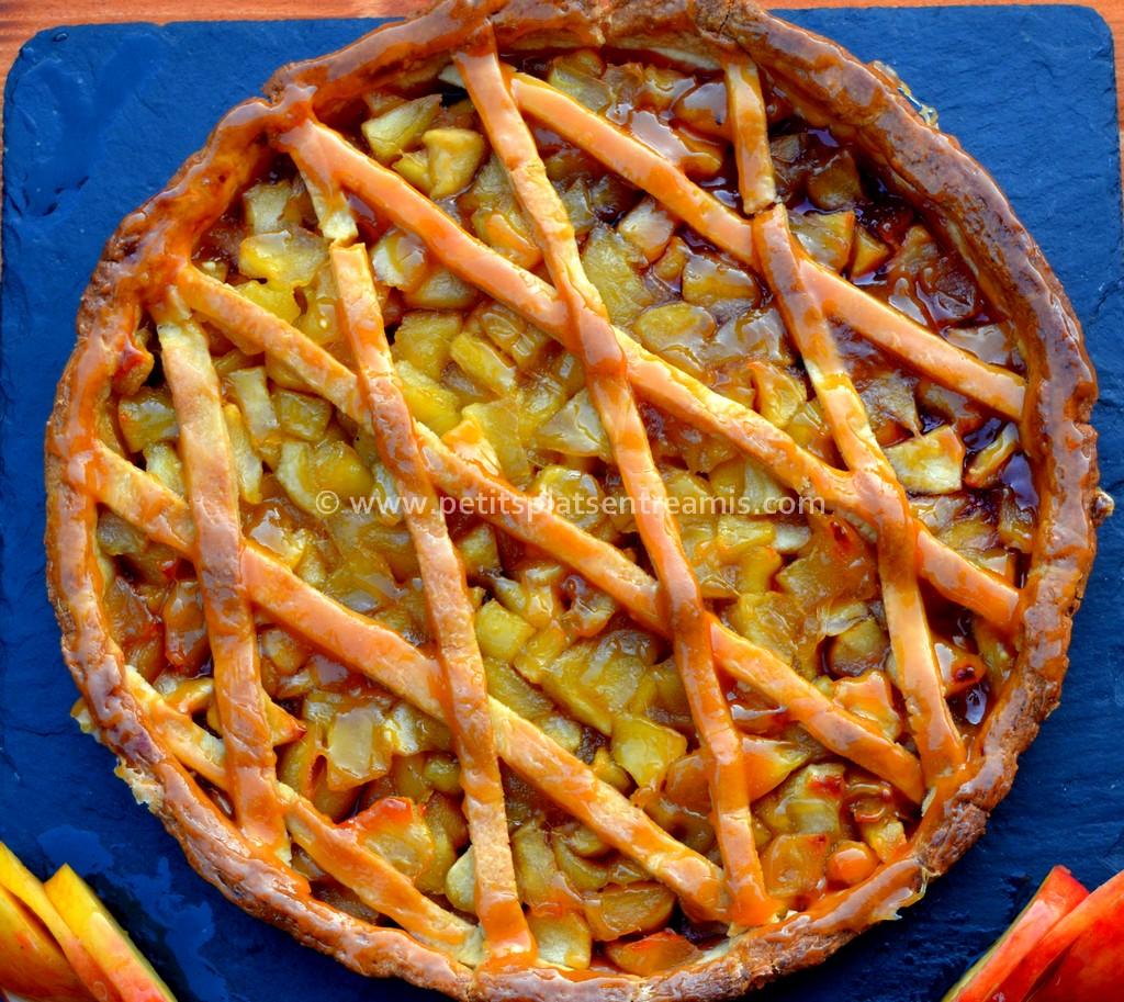 tarte au pommes vue de dessus