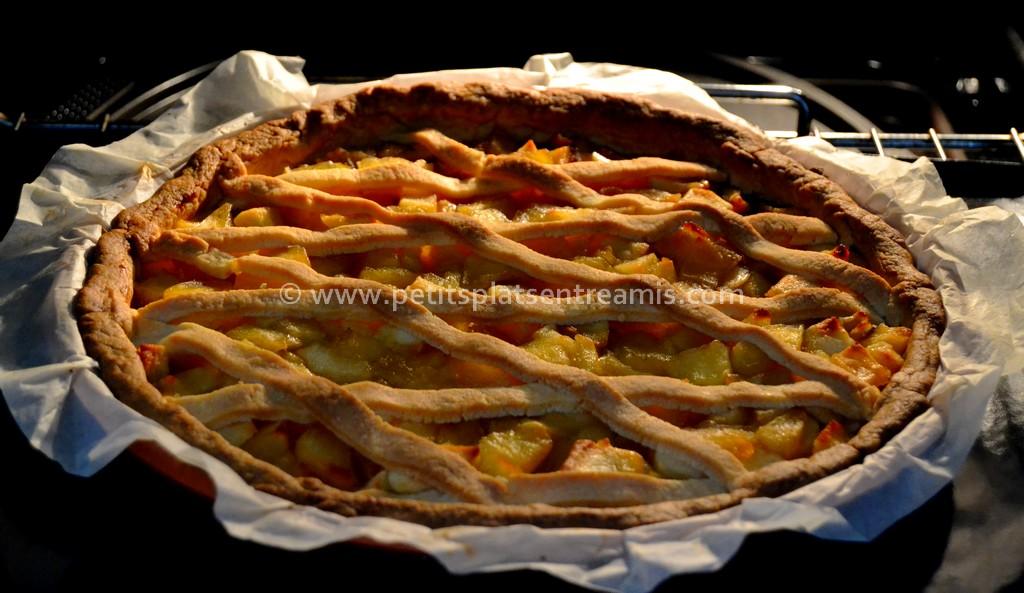 tarte aux pommes au four